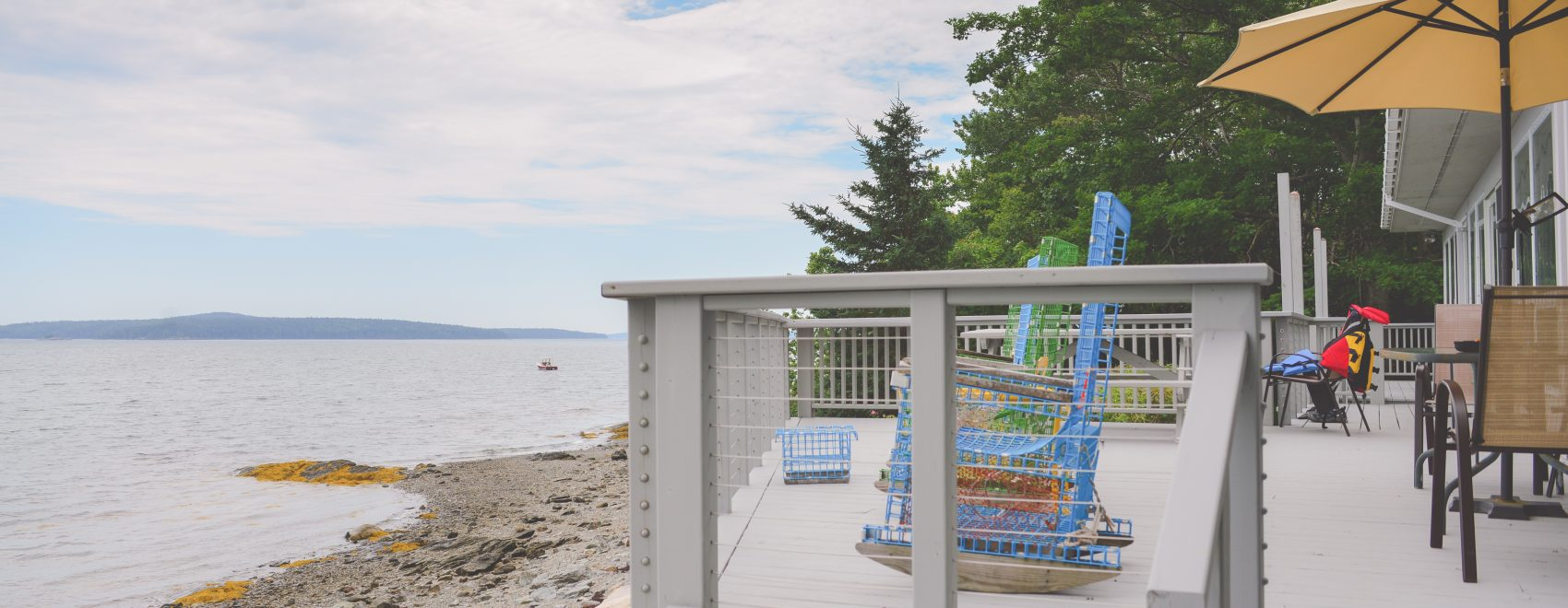 Bar Harbor View Cottage - deck